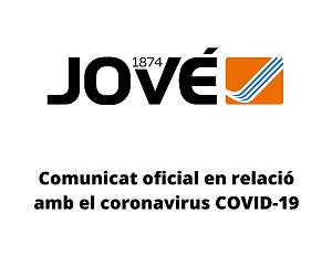 Comunicat oficial sobre el coronavirus