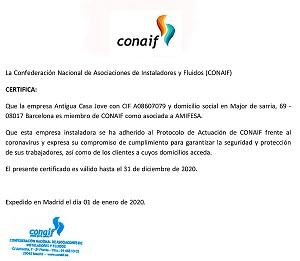 Ens hem adherit al protocol d'actuació de CONAIF per fer front al coronavirus
