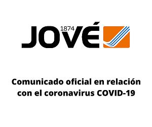 Comunicado oficial sobre el coronavirus